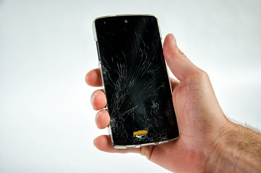 Kapotte smartphone